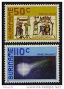 K13432- Set MNH Surinam 1986- SC. 747-748- Halley's Comet - Space