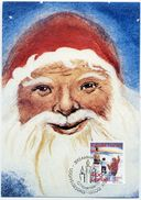 GREENLAND 1992 Christmas On Maximum Card.  Michel 229 - Maximum Cards