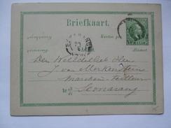 NETHERLANDS INDIES 1887 Postal Stationary Card - Semarang Postmark - Netherlands Indies