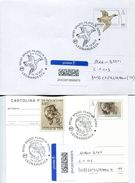 29246 Italia,2 Stationery Circuled (cover+card) Tarif A(priority Mail) Leonardo Da Vinci Drawings Of Duck And Mary Magda - Art