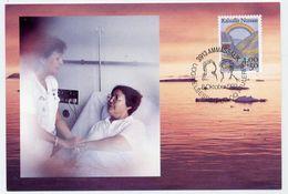 GREENLAND 1992 Anti-cancer On Maximum Card.  Michel 228 - Maximum Cards