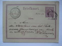 NETHERLANDS INDIES 1883 Postal Stationary Card - Weltevereden Postmark - `Ini Papan Boeat Toelis Soerat` - Netherlands Indies