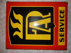 Plaque émaillée Chauffage - Advertising (Porcelain) Signs