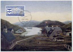 GREENLAND 1992 250th Anniversary Of Paamiut On Maximum Card.  Michel 225 - Maximum Cards