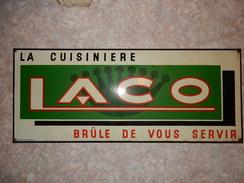 Plaque émaillée Cuisinière LACO - Advertising (Porcelain) Signs