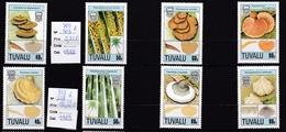 Tuvalu 8 Timbres Neufs** N°500 à 503 Et 515 à 518 Champignon - Champignons
