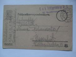 AUSTRIA - 1915 Feldpostkarte - K.u.K. Feldjagerbataillon Nr. 8 - K.u.K. Hauptfeldpost 610 - 1850-1918 Empire