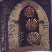 Mini Coin Card 2005 BU Set 2 - 20 Cent + 2 Euro Saint St Marin San Marino святой матрос święty żeglarz Püha Mataplats - San Marino