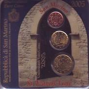 Rare Introuvable Erreur Coin Card 2005 BU Set 2 - 20 Et 50 Cent Saint St Marin San Marino святой матрос święty żeglarz - San Marino