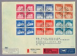Switzerland Suisse Helvetia 2 X FDC 1968 Architecture Monuments Architektur Baudenkmäler 2 Registered Covers - Denkmäler