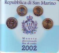 Coin Card 2002 BU Set 20-50 Cent + 1 - 2 Euro Saint St Marin San Marino святой матрос święty żeglarz Püha Mataplats - San Marino