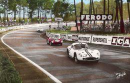 24 Heures Du Mans 1962 - Tertre Rouge - Maserati 151 (Thompson) - Ferrari 246P (Rodriquez) - CPA - Le Mans