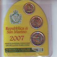 Coin Card 2007 BU Set 10-20 Cent +  2 Euro Saint St Marin San Marino святой матрос święty żeglarz Püha Mataplats - San Marino