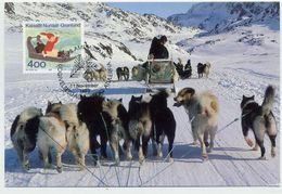GREENLAND 1993 Christmas On Maximum Card.  Michel 242 - Maximum Cards
