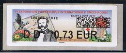 ATM, CODE DATAMATRIX, LISA2, DD 0.73€, ST LOUIS, HENRI DUNANT, Nouveau  Programme De Décembre 2017. - 2010-... Geïllustreerde Frankeervignetten