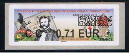 ATM, CODE DATAMATRIX, LISA2, CC 0.71€, ST LOUIS, HENRI DUNANT, Nouveau  Programme De Décembre 2017. - 2010-... Geïllustreerde Frankeervignetten