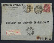 N°74/75+78 PERFIN (ntz) GESTEMPELD Anvers (Rue De Jesus) OP VOORZIJDE VAN AANGETEKENDE OMSLAG NAAR Berlijn - Perforés
