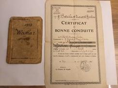 Livret Militaire D Un Soldat Du 508°régiment De Chars De Combat Passe Aux Ouvriers D Artillerie - Documenten