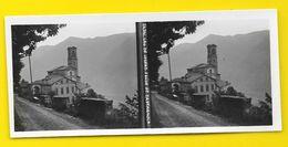 Vues Stéréos CASTAGNOLA L'Eglise Lac De Lugano Italie - Photos Stéréoscopiques
