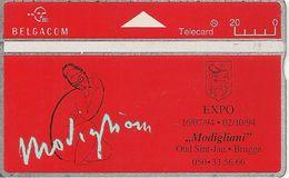 TC+PUBLIC-HOLOGRAPHIQUE-BELGACOM-1994-20U-EXPO MODIGLIANI-V°N°Endroits 425A26149-UTILISE-BE - Belgium