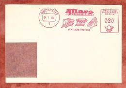 Briefstueck, Absenderfreistempel, Mars Bueromaschinen, 20 Pfg, Berlin 1964 (44831) - Berlin (West)
