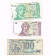 Lot De 3 Billets .Croatie,2 Billets .Bulgarie Et Un Billet De Slovénie Et Ukraine - Croatie