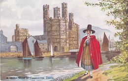 A Welsh Maid At Caernarvon Castle - Caernarvonshire