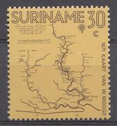 Suriname 1971  Mi.nr: 607 Landkarte Von Willem Mogge  NEUF Sans CHARNIERE / MNH / POSTFRIS - Surinam