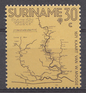 Suriname 1971  Mi.nr: 607 Landkarte Von Willem Mogge  NEUF Sans CHARNIERE / MNH / POSTFRIS - Suriname