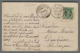 C2875 HELVETIA Postal History 1908 5 FRANCO DENSBUREN (m) - Suisse