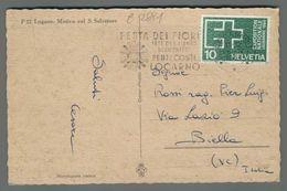 C2881 HELVETIA Postal History 1964 TARGHETTA FESTA DEI FIORI EXPOSITION LAUSANNE (m) - Lettres & Documents