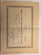 Brevet Diplôme De Tireur D' élite Du 3° Regiment D Infanterie Alpine 1935 - Documents