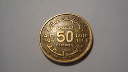 MONNAIE MAROC 50 CENTIMES 1945 / 1364 - Morocco