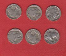 Etats Unis / Lot 3 X 5Cents 1935, 1937, 1936 D - 1913-1938: Buffalo