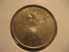20 Sen 1990 Coin MALAYSIA - Malesia