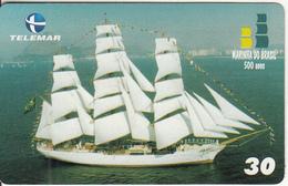 BRAZIL(Telemar) - Marinha Do Brasil 500 Anos 10/Sailing Boat, 01/01, Used - Bateaux
