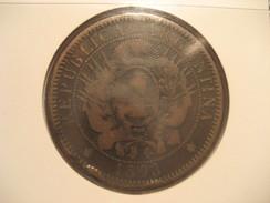 Dos Centavos 1893 ARGENTINA Coin - Argentina