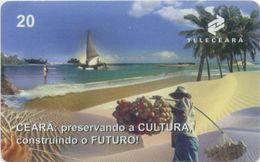 Telefonkarte Brasilien - Landschaft - Strand , Beach - Brasilien