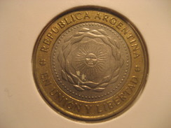2 Pesos 2011 ARGENTINA Bimetallic Coin - Argentina