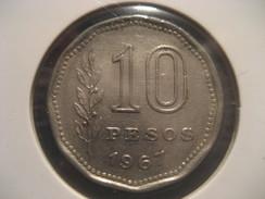 10 Pesos 1967 ARGENTINA Coin - Argentina