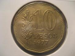10 Pesos 1977 ARGENTINA Coin - Argentina