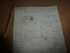 1818 Lettre Au Ministre De La Guerre Sur Le Sens Qu'il Faut Attacher Aux Mots REPRIS DE JUSTICE Afin éviter L'amalgame - Manuscrits