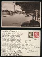 ALBANIA - TIRANA - 1941 - VIALE VITTORIO EMANUELE. FOTOGRAFICA. BELLA ANIMAZIONE! - Albanien