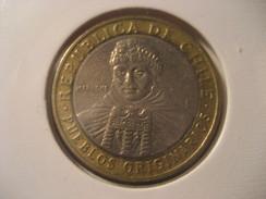 100 Pesos 2009 Mapuche CHILE Bimetallic Coin - Chile