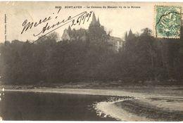 CPA N°16907 - LOT 3 CARTES DE PONT AVEN - LE CHATEAU DU HENANT VU DE LA RIVIERE - Pont Aven
