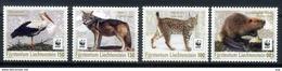 Liechtenstein 2017 WWF, Fauna, Wild Cats, Lynx, Stork, Wolf - W.W.F.