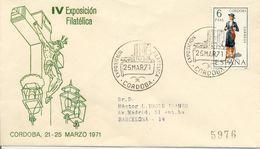 Córdoba Expo. Phila.1971 Obliteration, Recommande Espagne - Marcofilia - EMA ( Maquina De Huellas A Franquear)