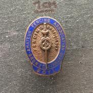 Badge (Pin) ZN006155 - Fencing (Fechten / Macevanje) Proficiency Amateur Association Bronze Standard FOIL - Scherma