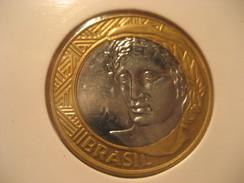 1 Real 2008 BRASIL Brazil Good Condition Bimetallic Coin - Brazil