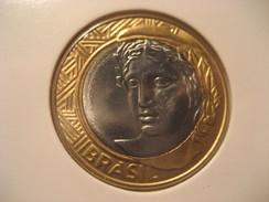 1 Real 2010 BRASIL Brazil Good Condition Bimetallic Coin - Brazil